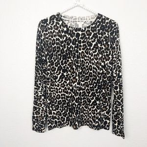 J. Crew Sweater Leopard Animal Print sz S